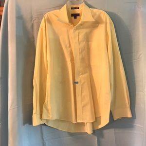Men's XL Yellow Long Sleeve Dress shirt